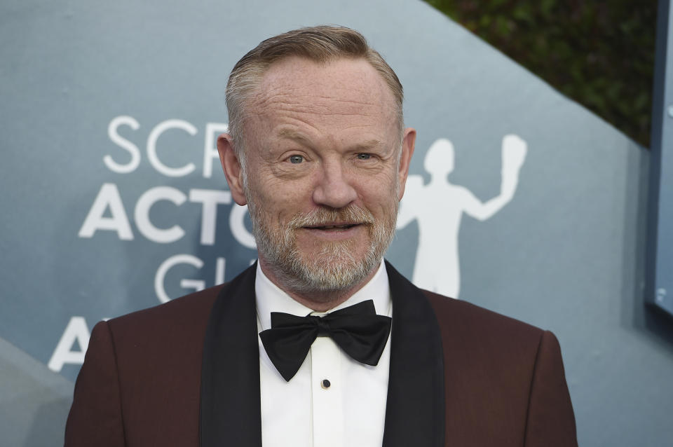Jared Harris arrives at the 26th annual Screen Actors Guild Awards at the Shrine Auditorium & Expo Hall on Sunday, Jan. 19, 2020, in Los Angeles. (Photo by Jordan Strauss/Invision/AP)