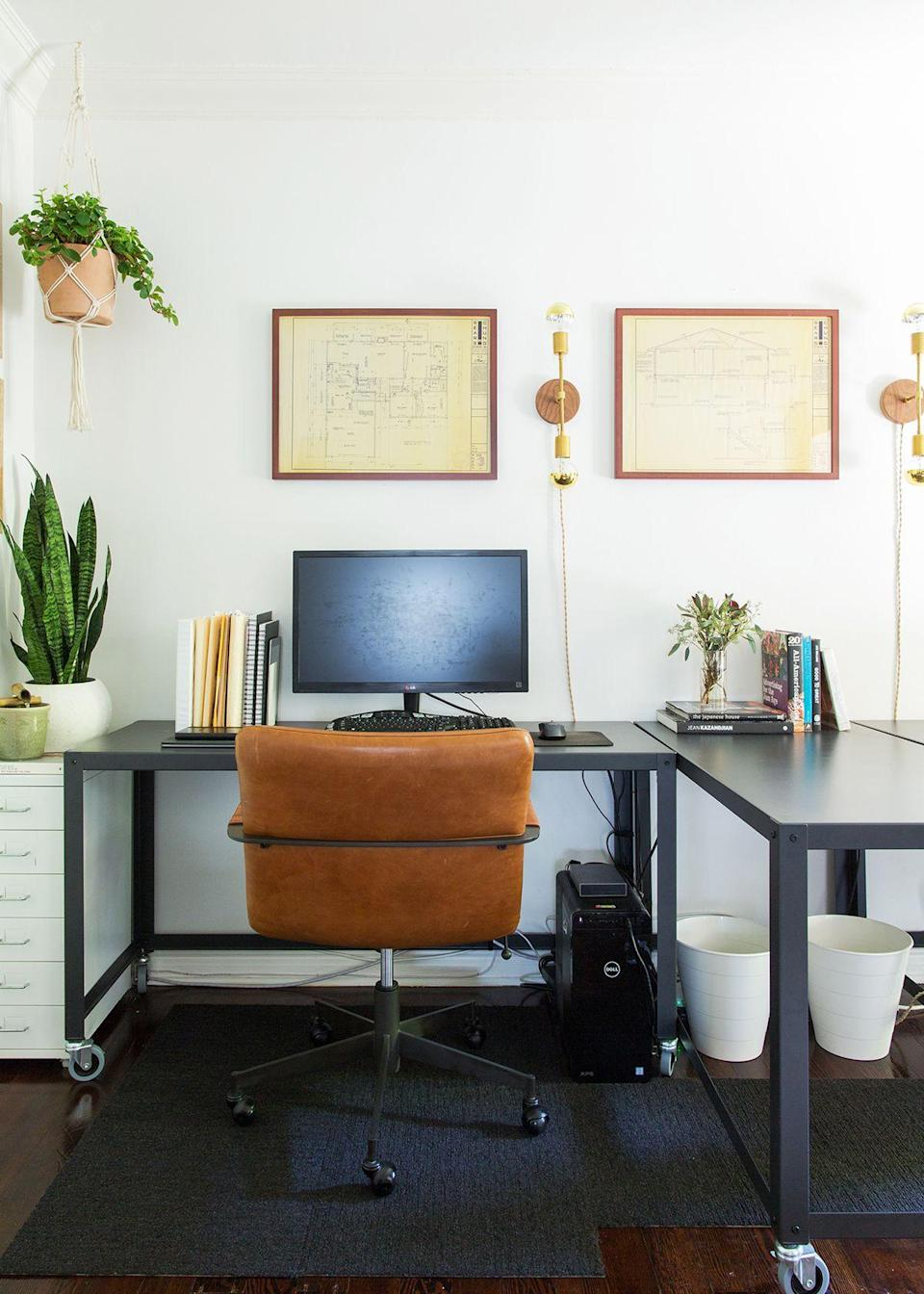 """Many apartment dwellers can relate to the designer's biggest challenge in furnishing the space: the size of the house. """"I work from home (when I'm not at my various project locations), so I really needed the space to work for my business needs,"""" Cheng explains. """"But at the same time, I wanted it to feel like a sanctuary and an inviting place to entertain friends."""" It's a hefty checklist for a small place, as the designer notes, but we'd say she nailed it."""