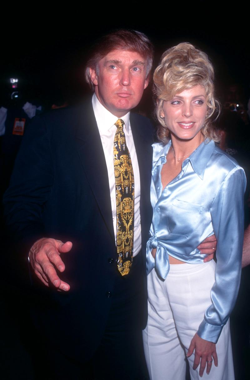 Donald Trump and his former wife Marla Maples, pictured in 1995. (Photo: Getty Images)