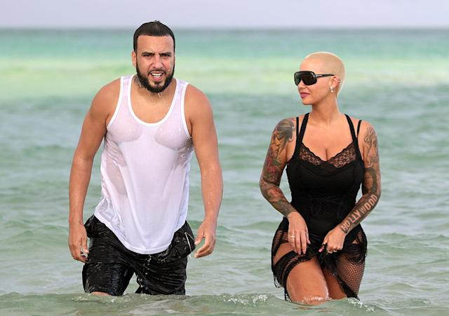 <p>As if the relationship between Rose and the Kardashians weren't complicated enough, she once again hung out with rapper French Montana — who happens to be Khloé Kardashian's ex — on a Miami Beach trip. Sigh … we give up trying to understand all the ways they're connected. (Photo: Splash News) </p>