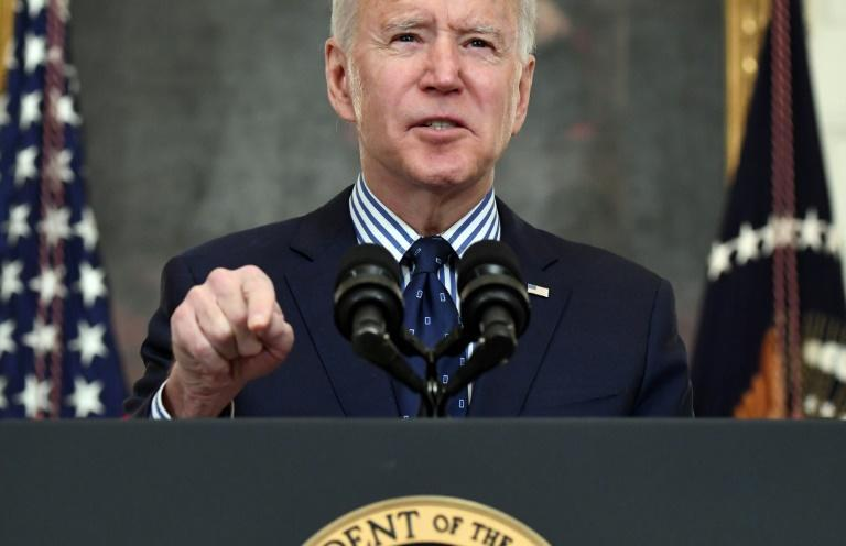 US President Joe Biden hailed the Senate passage of a $1.9 trillion economic rescue package as a 'giant step'