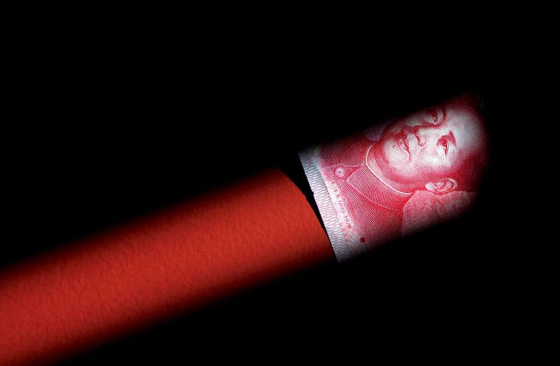 FILE PHOTO: A 100 Yuan note is seen in this illustration picture in Beijing