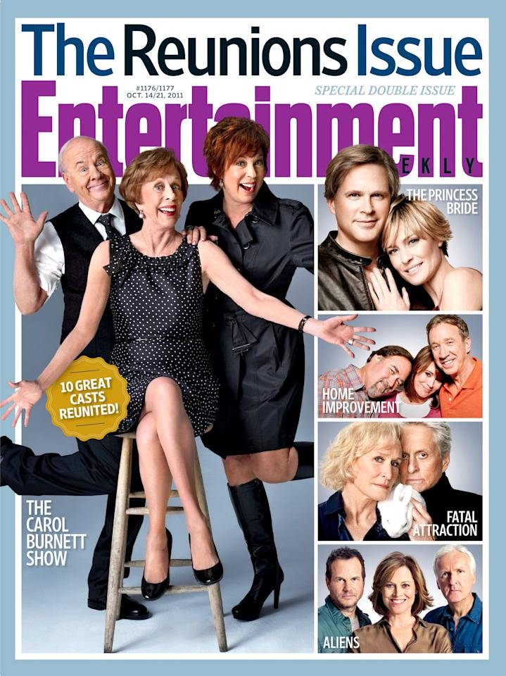 "Tim Conway, <a href=""https://ew.com/tag/carol-burnett/"">Carol Burnett</a>, and Vicki Lawrence represented <a href=""https://ew.com/article/2011/10/07/reunion-carol-burnett-show/""><em>The Carol Burnett Show</em></a> in their starring role of this special issue."
