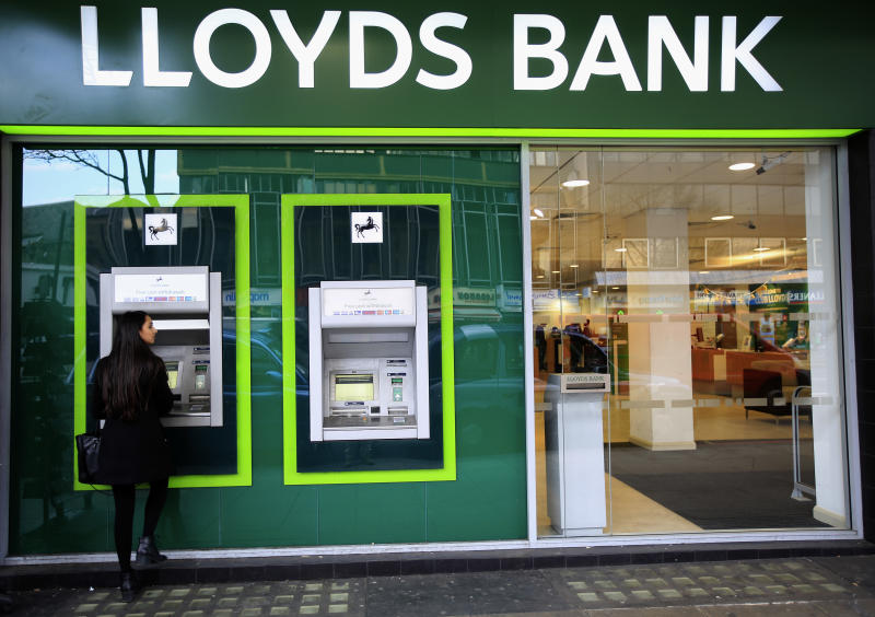 A Lloyds Bank branch in central London