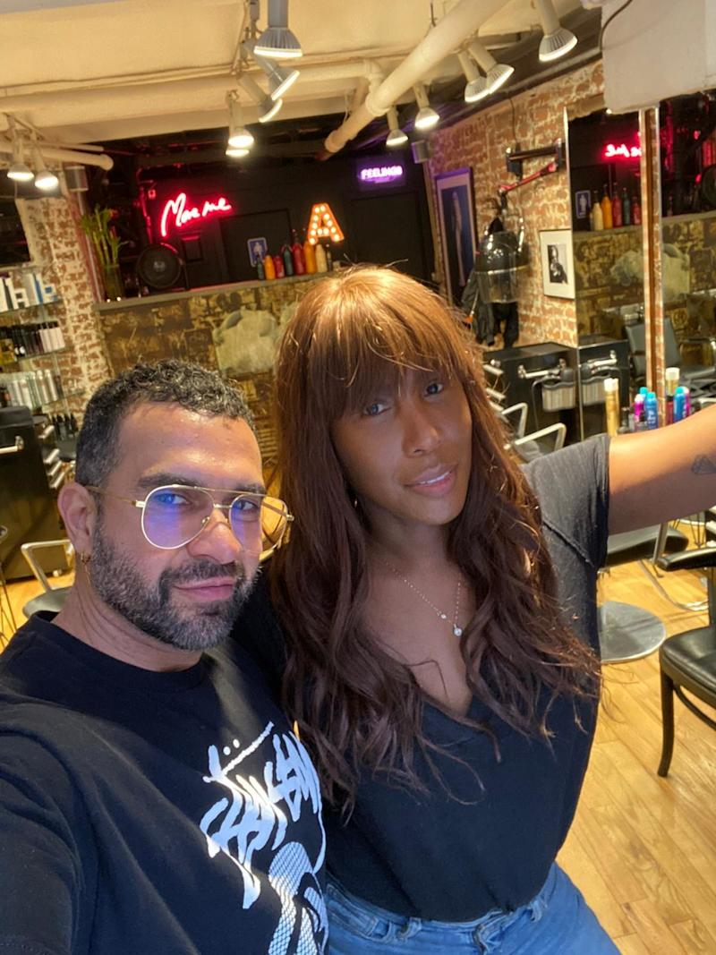 Stopped by my friend Andreas Anastasis to get my hair cut and styled before the event. He is a master with bangs.