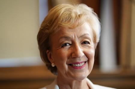 British Conservative Andrea Leadsom smiles during an interview with Reuters, after launching her campaign for the Conservative Party leadership, in London