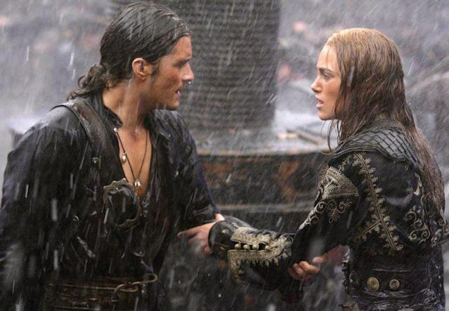 Will Turner (Orlando Bloom) and Elizabeth Swann (Keira Knightley) finally marry at the end of <em> Pirates of the Caribbean: At World's End</em>. (Photo: Buena Vista Pictures/courtesy Everett Collection)