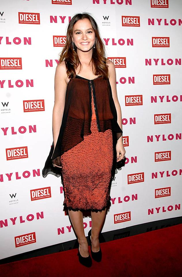 """Leighton Meester's premiere looks have been spot-on as of late, but the star of the new thriller, """"The Roommate,"""" slipped up upon attending a <i>NYLON</i> magazine soiree in this shapeless drape dress courtesy of Proenza Schouler. Marc Stamas/<a href=""""http://www.gettyimages.com/"""" target=""""new"""">GettyImages.com</a> - February 1, 2011"""