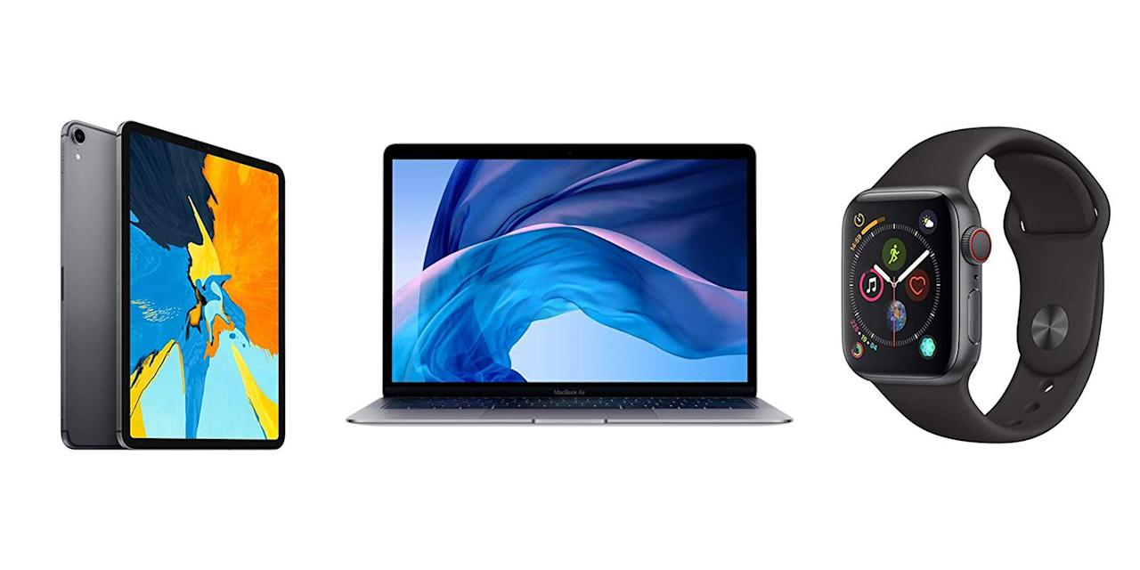 """<p>Yesterday, Apple's <a href=""""https://www.popularmechanics.com/technology/gadgets/a28981614/apple-keynote-2019/"""" target=""""_blank"""">keynote presentation</a> brought  news of the iPhone 11, the Apple Watch Series 5, seventh-gen iPad, as well as the Apple TV+ and Arcade. While some of us may be already trying to upgrade to the <a href=""""https://www.popularmechanics.com/technology/gadgets/a28985988/iphone-11-pro-features/"""" target=""""_blank"""">iPhone 11 Pro</a>, not every can justify dropping $999 or more for an another <a href=""""https://www.popularmechanics.com/technology/gadgets/a28984993/iphone-11-pro-camera/"""" target=""""_blank"""">camera</a> and extra battery life. For the rest of us who don't need the latest Apple tech, the the new releases bring something we can all benefit from: great deals on current Apple products.</p><p>Amazon has dropped prices on several Apple devices during the event, so it's a better time than any to save hundreds on iPads, Watches, and Macbooks. </p>"""