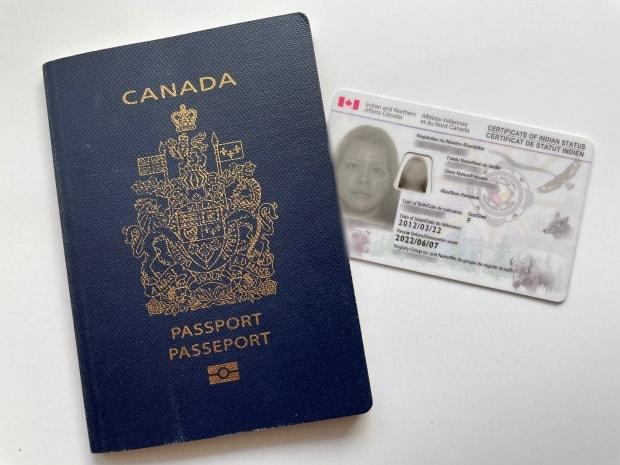 A Canadian passport on the left, a Secure Certificate of Indian Status on the right; the petition calls for both of these secure federal government documents to be processed in the same time frame, 20 business days.