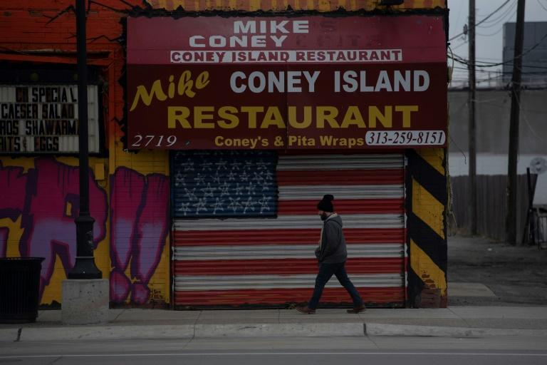 Many US restaurants have been forced to close, like this one in Detroit (AFP Photo/SETH HERALD)