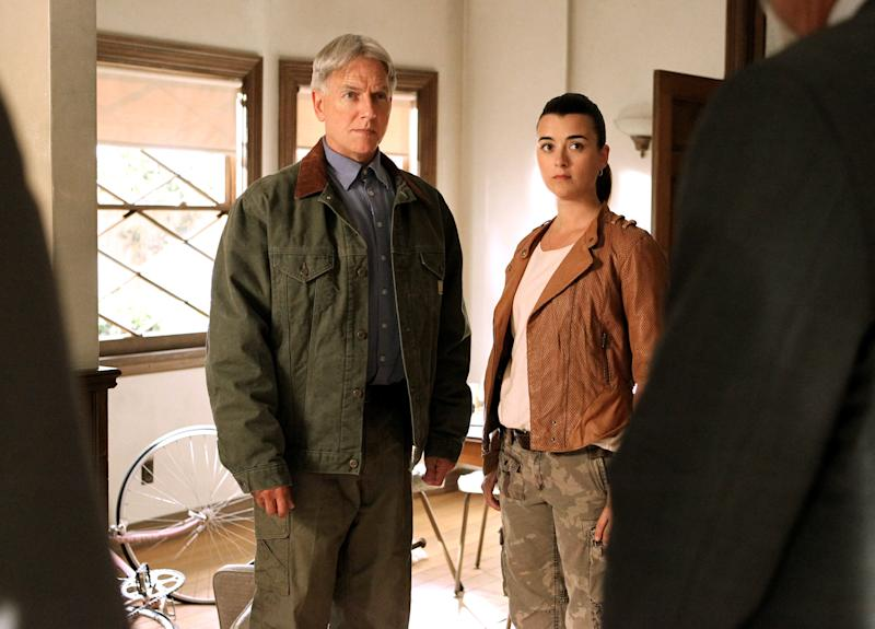 "This publicity image released by CBS shows Mark Harmon, left, and Cote de Pablo in a scene from ""NCIS."" Last season 18.5 million viewers tuned into ""NCIS"" to certify it as one of TV's highest-rated shows and, even more impressively, make it a series whose audience after 10 seasons has expanded, not shriveled, with age. (AP Photo/CBS, Sonja Flemming)"