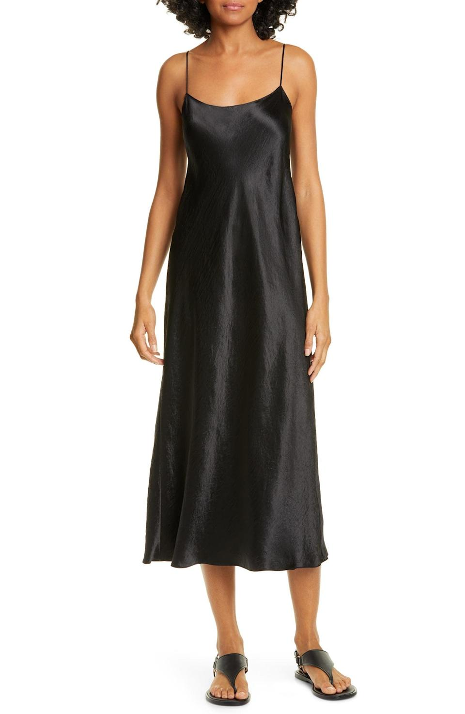 <p>You'll have this <span>Vince Satin Midi Slipdress</span> ($295) in your closet for years to come.</p>