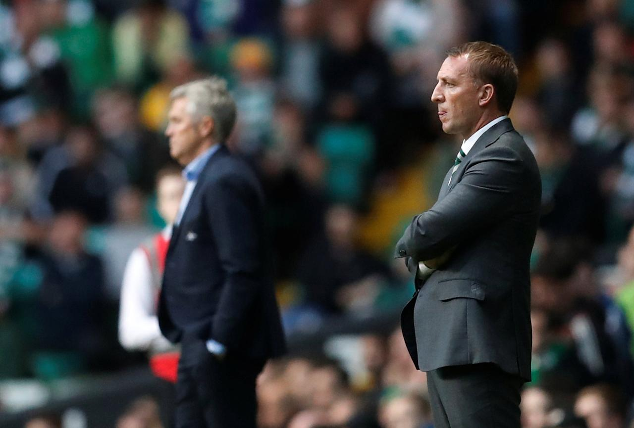 Soccer Football - Champions League - Celtic vs Rosenborg BK - Third Qualifying Round First Leg - Glasgow, Britain - July 26, 2017   Celtic manager Brendan Rodgers    REUTERS/Russell Cheyne