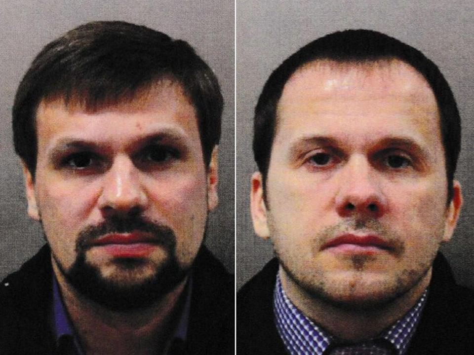 Photos from passports in the names of RuslanBoshirov(L) and Alexander Petrov (R) (Metropolitan Police)