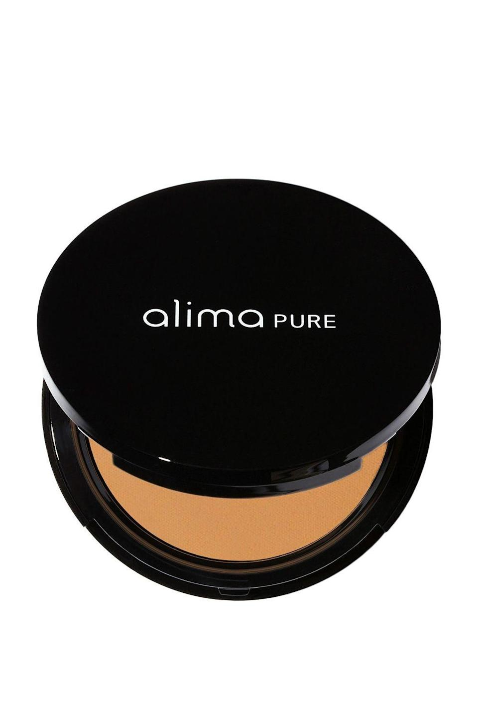 "<p><strong>Alima Pure</strong></p><p>credobeauty.com</p><p><strong>$34.00</strong></p><p><a href=""https://go.redirectingat.com?id=74968X1596630&url=https%3A%2F%2Fcredobeauty.com%2Fproducts%2Falima-pure-pressed-foundation-with-rosehip-antioxidant-complex-refills&sref=https%3A%2F%2Fwww.cosmopolitan.com%2Fstyle-beauty%2Fbeauty%2Fg33351245%2Fbest-natural-foundations%2F"" rel=""nofollow noopener"" target=""_blank"" data-ylk=""slk:Shop Now"" class=""link rapid-noclick-resp"">Shop Now</a></p><p>A few taps of this natural pressed <a href=""https://www.cosmopolitan.com/style-beauty/beauty/g26289172/best-powder-face-foundation/"" rel=""nofollow noopener"" target=""_blank"" data-ylk=""slk:powder foundation"" class=""link rapid-noclick-resp"">powder foundation</a> give skin a velvety matte finish. It comes with a soft sponge for easy application, and is infused with argan oil, aloe vera, and evening primrose oil to ensure the powder formula <strong>n</strong><strong>ever feels cakey or drying on your skin.</strong></p>"