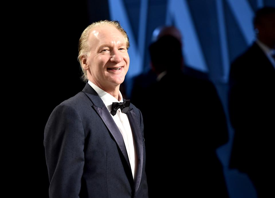 BEVERLY HILLS, CA - FEBRUARY 26: Television personality Bill Maher attends the 2017 Vanity Fair Oscar Party hosted by Graydon Carter at Wallis Annenberg Center for the Performing Arts on February 26, 2017 in Beverly Hills, California.  (Photo by Mike Coppola/VF17/Getty Images for VF)