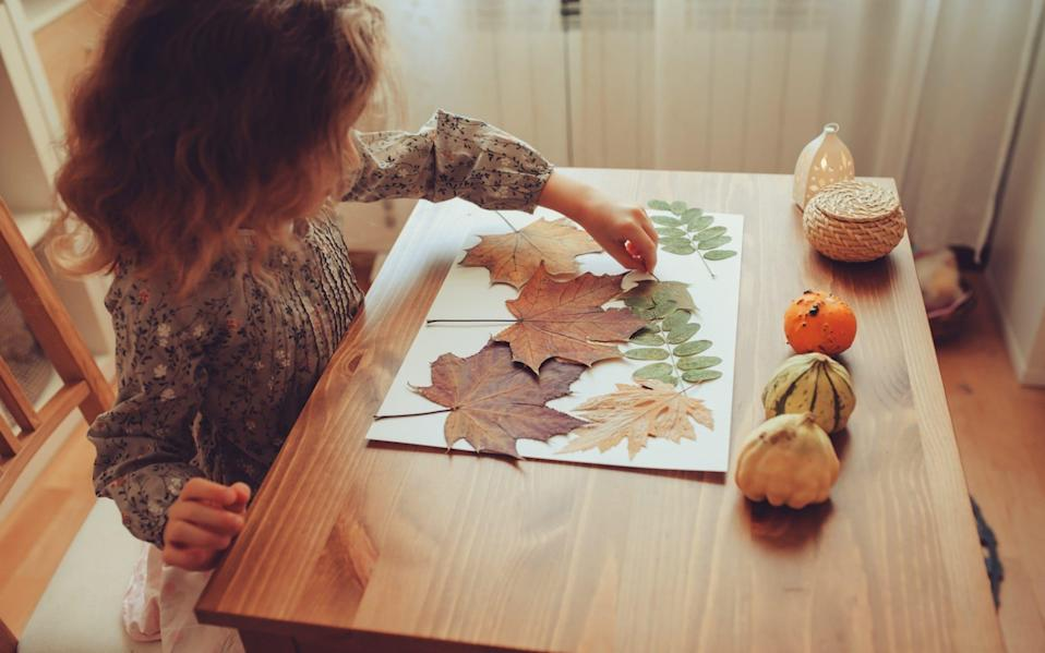 Autumn crafts are often a hit with younger children - Mkovalevskaya/iStockphoto