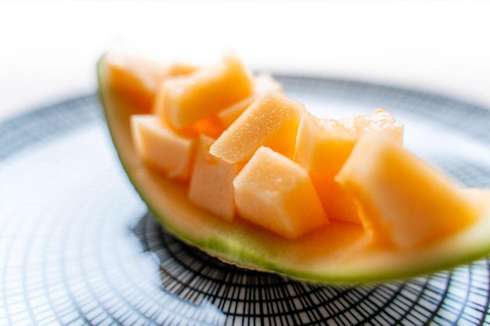 <p>A slice of juicy melon on a hot afternoon is one of the great pleasures of summer—but skip the watermelon, which has a higher glycemic load, and instead choose cantaloupe or honeydew.</p><p><em>1 serving = 1 cup cubed melon</em></p>