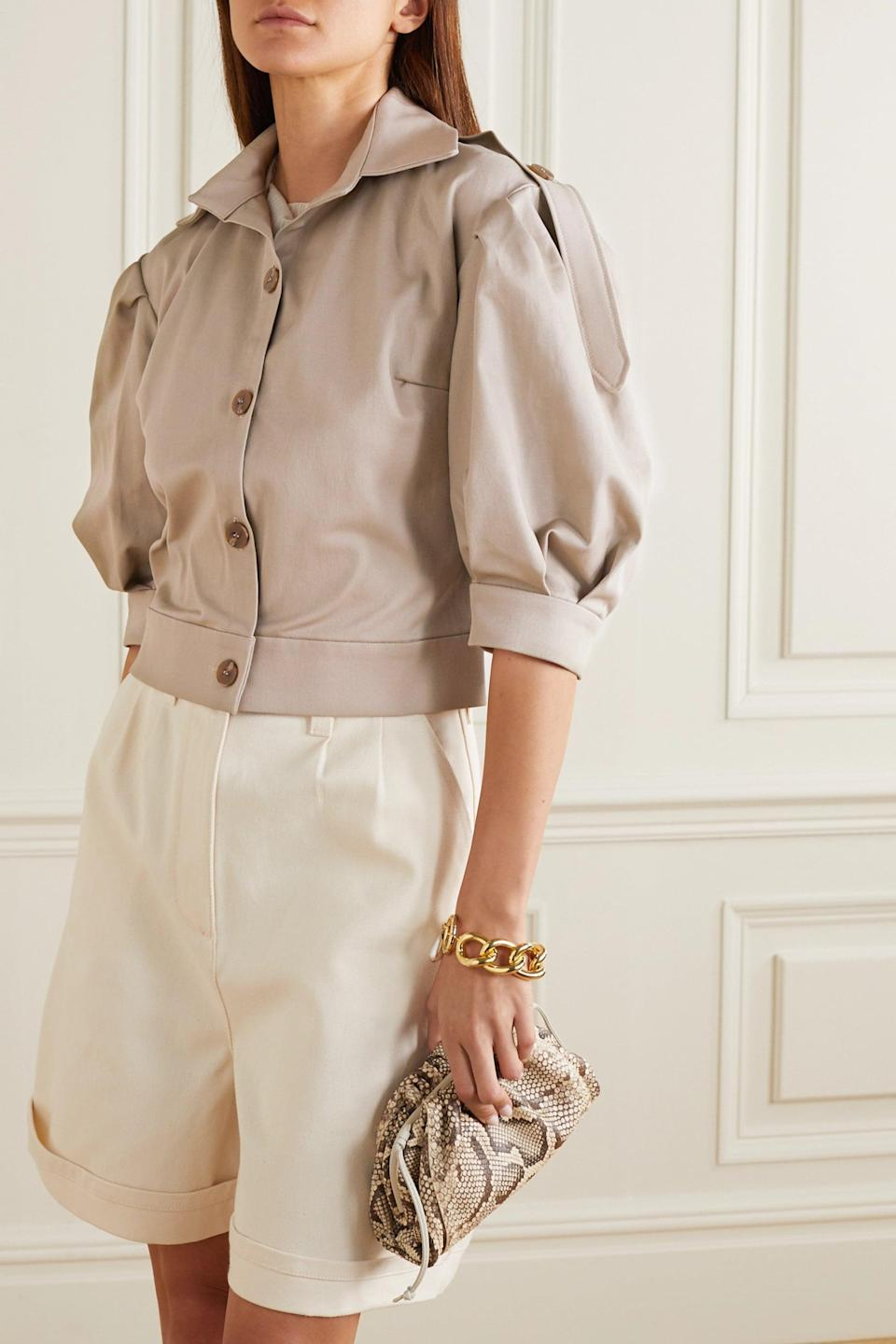 <p>Your wardrobe needs this <span>aaizél Cropped cotton-blend twill shirt</span> ($530).</p>