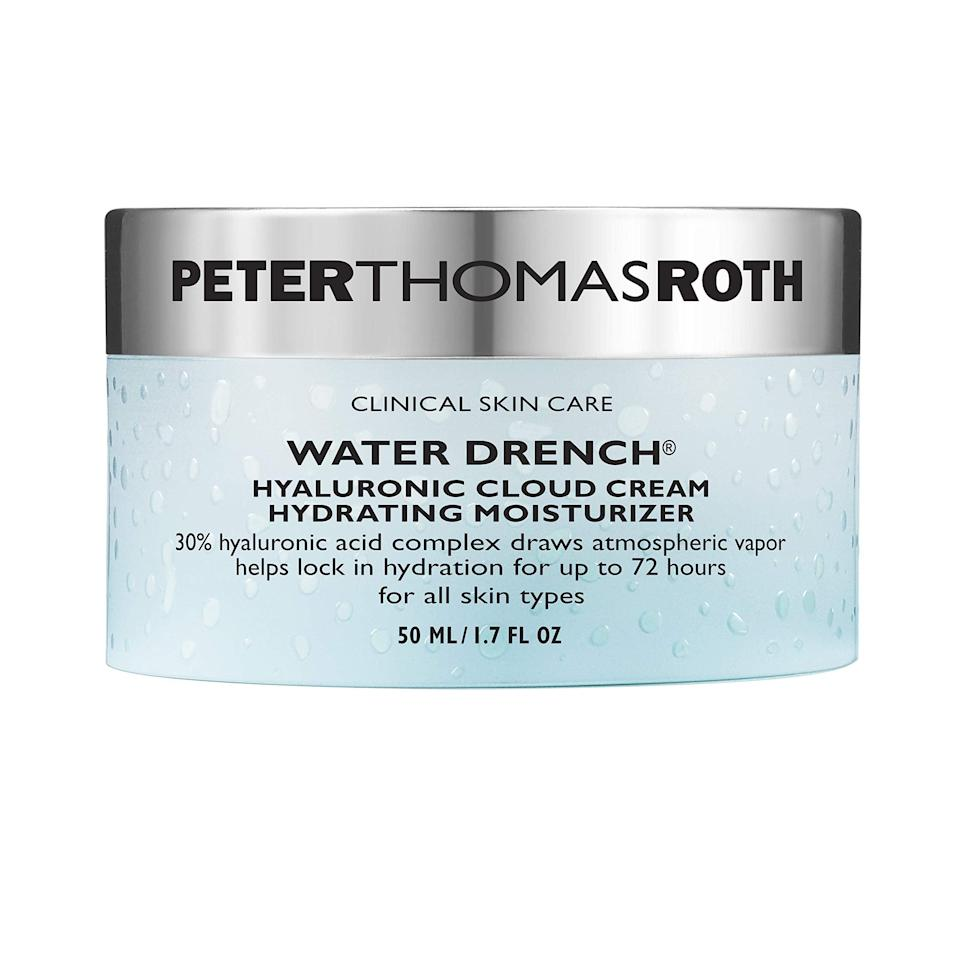 """<h2>Peter Thomas Roth</h2><br>30% off select products<br><br><strong>Peter Thomas Roth</strong> Water Drench Hyaluronic Cloud Cream Moisturizer, $, available at <a href=""""https://amzn.to/2UfShUg"""" rel=""""nofollow noopener"""" target=""""_blank"""" data-ylk=""""slk:Amazon"""" class=""""link rapid-noclick-resp"""">Amazon</a>"""