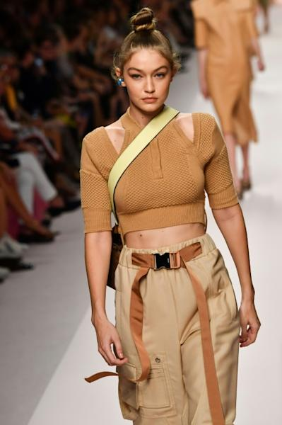 Fendi's Women's Spring/Summer 2019 collection featured pockets, pleats and imaginatively-used PVC