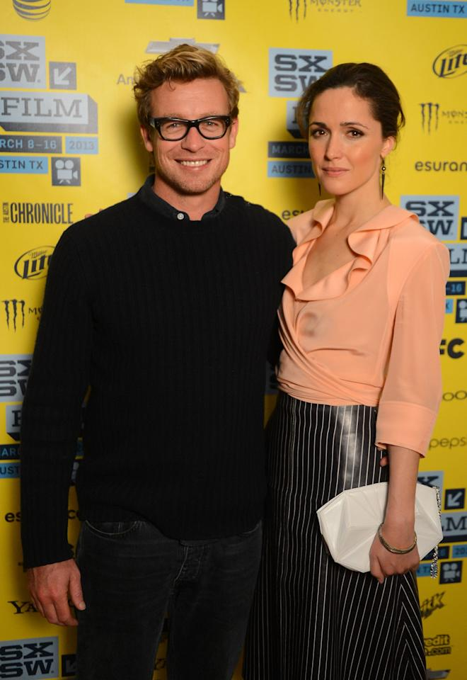 AUSTIN, TX - MARCH 09:  Actors Simon Baker and Rose Byrne attend the 'I Give It A Year' red carpet arrivals at the 2013 SXSW Music, Film + Interactive Festival  held at the Topfer Theatre at ZACH on March 9, 2013 in Austin, Texas.  (Photo by Mark Davis/Getty Images)