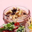 """<p>Give your oatmeal an energy kick with this coffee-drink-flavored overnight oats recipe. Chocolate, walnuts, maple and cacao nibs make give this healthy breakfast luxurious flavor. <a href=""""https://www.eatingwell.com/recipe/270494/mocha-overnight-oats/"""" rel=""""nofollow noopener"""" target=""""_blank"""" data-ylk=""""slk:View Recipe"""" class=""""link rapid-noclick-resp"""">View Recipe</a></p>"""