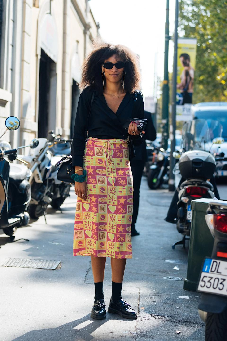 """<h2>Socks + Loafers</h2>From midi skirts to mini dresses, the socks and loafers combo is absolutely fool proof. <span class=""""copyright""""> Photographed by Melodie Jeng.</span>"""