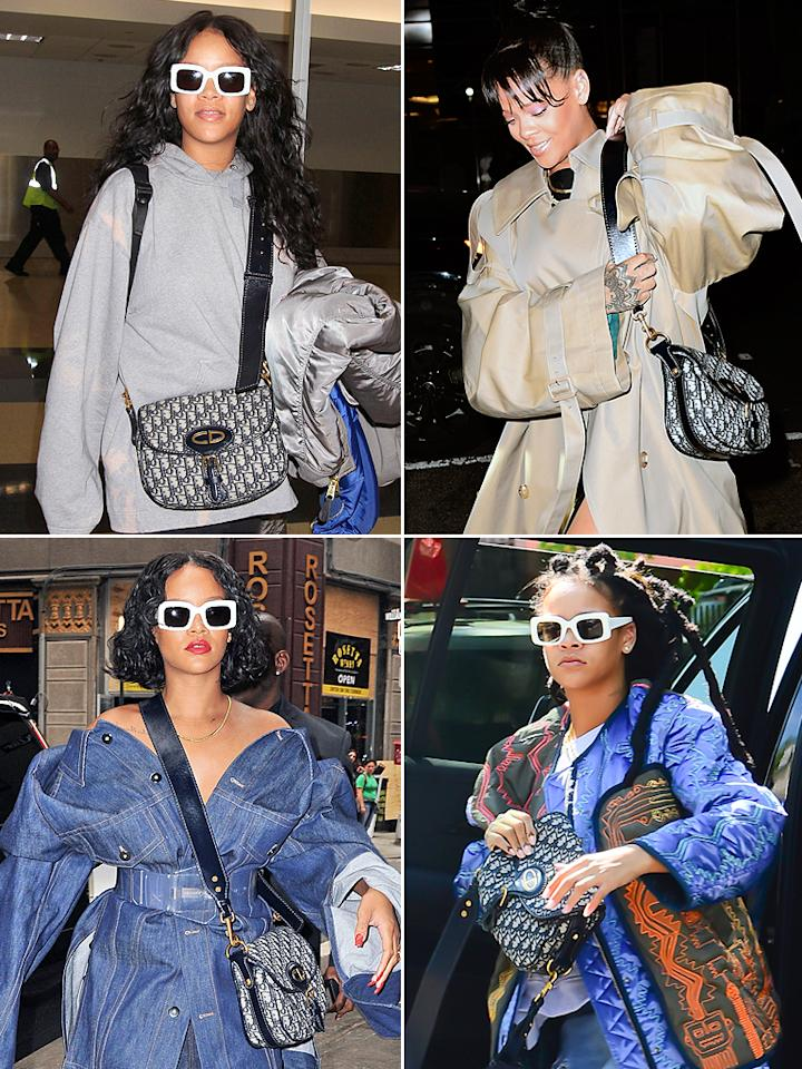 6bbe6e06aa588  p The only thing Rihanna loves more than oversize jackets is her trusty  logo