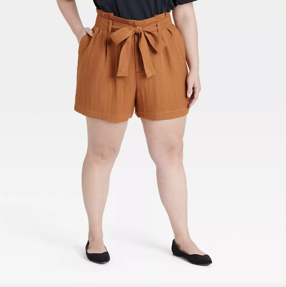 <p>These <span>A New Day High-Rise Paperbag Shorts</span> ($25) are the perfect lightweight and breezy picks for warm weather.</p>