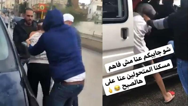 Videos show homophobic attack on three LGBTQ Palestinians in the West Bank