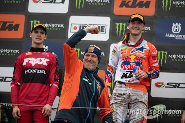"Dirk Gruebel , jefe de equipo de Red Bull KTM Factory Racing y Jeffrey Herlings, Red Bull KTM Factory Racing <span class=""copyright"">Ray Archer</span>"