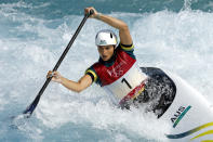 <p>TOKYO, JAPAN - JULY 29: Jessica Fox of Team Australia competes during the Women's Canoe Slalom Semi-final on day six of the Tokyo 2020 Olympic Games at Kasai Canoe Slalom Centre on July 29, 2021 in Tokyo, Japan. (Photo by Adam Pretty/Getty Images)</p>