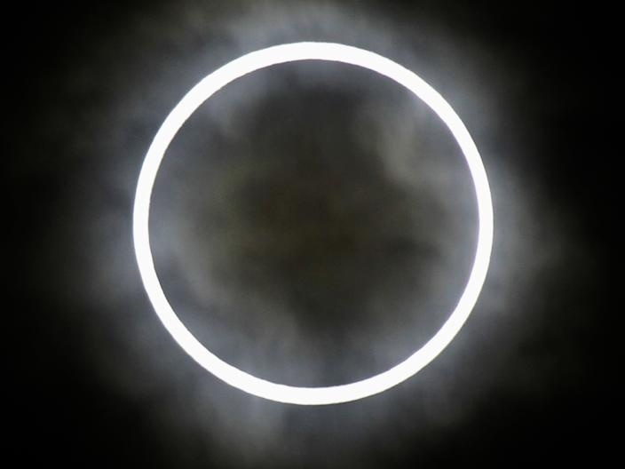 View of an annular solar eclipse from Tokyo, May 21, 2012 (Isay Kato / Reuters)