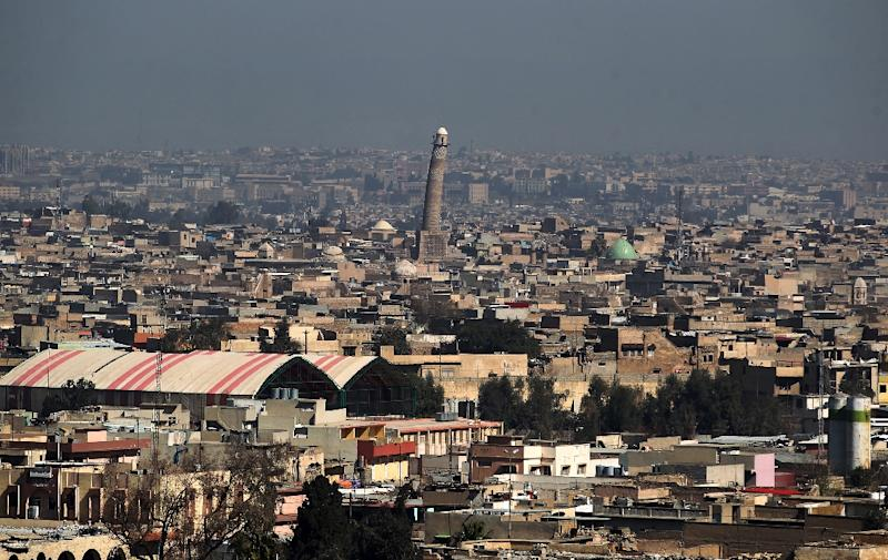 Thousands of Iraqi civilians remain trapped in Mosul's Old City, which is home to the Al-Nuri mosque and its leaning minaret (AFP Photo/AHMAD AL-RUBAYE)