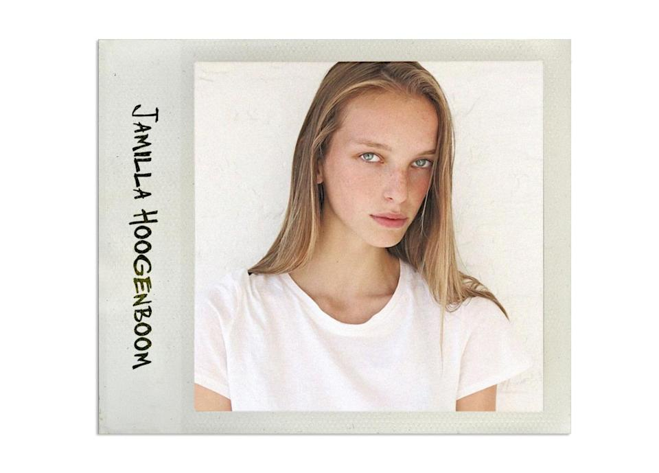 """<p>Jamilla is another model who first got her start thanks to walking in Céline last year. Is Phoebe Philo the model whisperer?<br><br>Agency: <a rel=""""nofollow noopener"""" href=""""http://www.womenmanagement.fr/model/2243/jamilla-hoogenboom/"""" target=""""_blank"""" data-ylk=""""slk:Women"""" class=""""link rapid-noclick-resp"""">Women</a><br>Instagram: <a rel=""""nofollow noopener"""" href=""""https://instagram.com/jamillahoogenboom/?hl=en"""" target=""""_blank"""" data-ylk=""""slk:@jamillahoogenboom"""" class=""""link rapid-noclick-resp"""">@jamillahoogenboom</a><br>Why We Like Her: <a rel=""""nofollow noopener"""" href=""""https://instagram.com/p/7nUqStBYT7/"""" target=""""_blank"""" data-ylk=""""slk:She likes the same highly caloric Starbuck drinks that we do."""" class=""""link rapid-noclick-resp"""">She likes the same highly caloric Starbuck drinks that we do. </a><br><br><br></p>"""