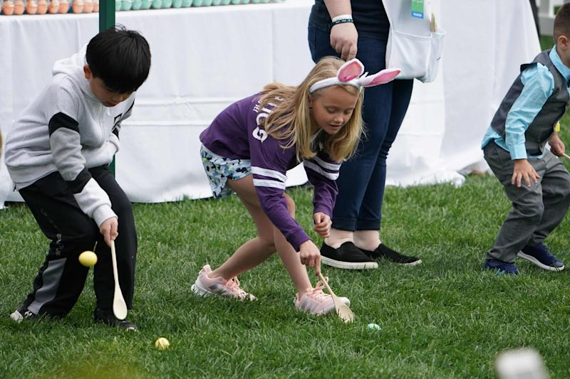 It's first lady Melania Trump's third White House Easter Egg Roll, a 141-year-old tradition that attracts thousands of kids.