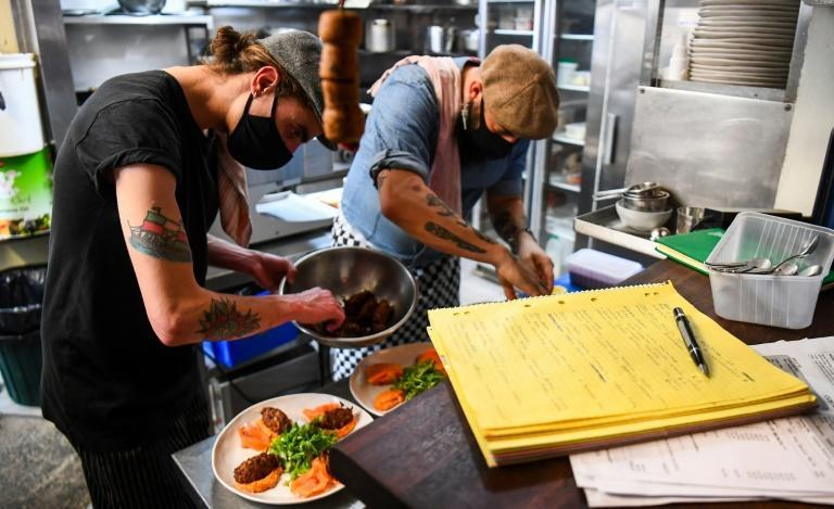 Staff at restaurants have been scrambling to get ready