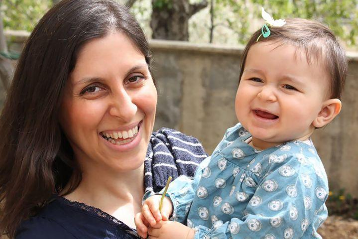 Nazanin Zaghari-Ratcliffe with her daughter Gabriella. (AFP/Getty Images)