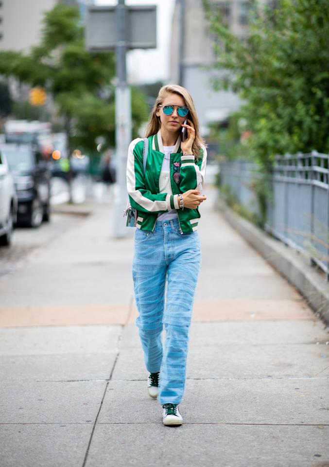 <p>Whether low-slung (which is definitely back for the coming year) or high-rise, straight silhouettes that hit below the ankle are back, and you'll likely see more of these styles in favor of the ankle-cropped legs that have ruled street style for the past few seasons.</p>