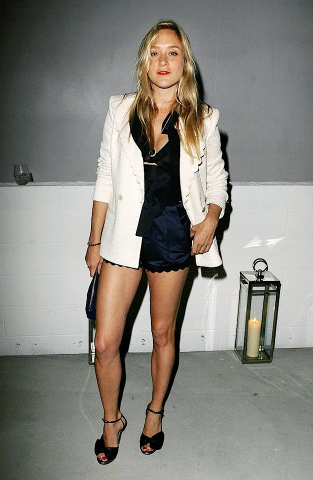 "Fashion-forward Chloe Sevigny's ""Big Love"" alter ego, Nicolette Grant, would shudder at the thought of showing this much leg! Jeff Vespa/<a href=""http://www.wireimage.com"" target=""new"">WireImage.com</a> - April 23, 2009"