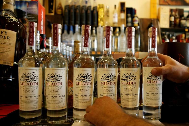 Arak Muaddi is produced in Nader Muaddi's basement in Bethlehem. Fewer than 500 bottles were made last year but he plans to increase the number this year (AFP Photo/HAZEM BADER)