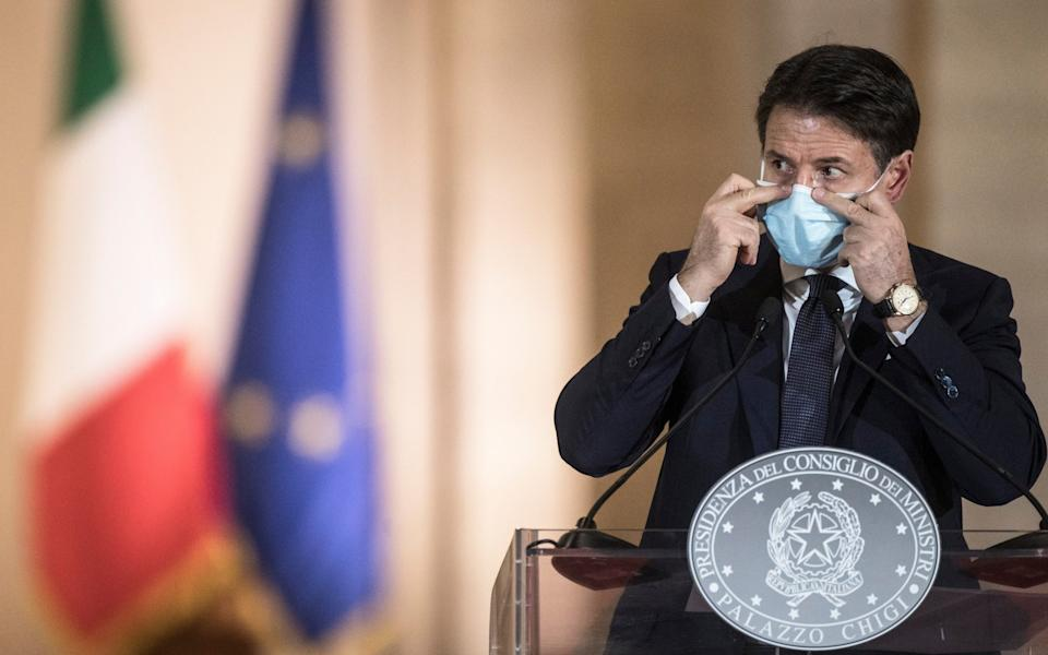 Giuseppe Conte announces new safety measures following a national surge of infections - Alessandra Benedetti/Corbis/Getty Images
