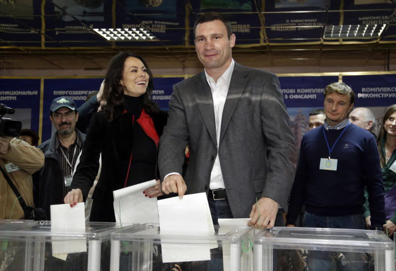 Ukraine's opposition doing well in election