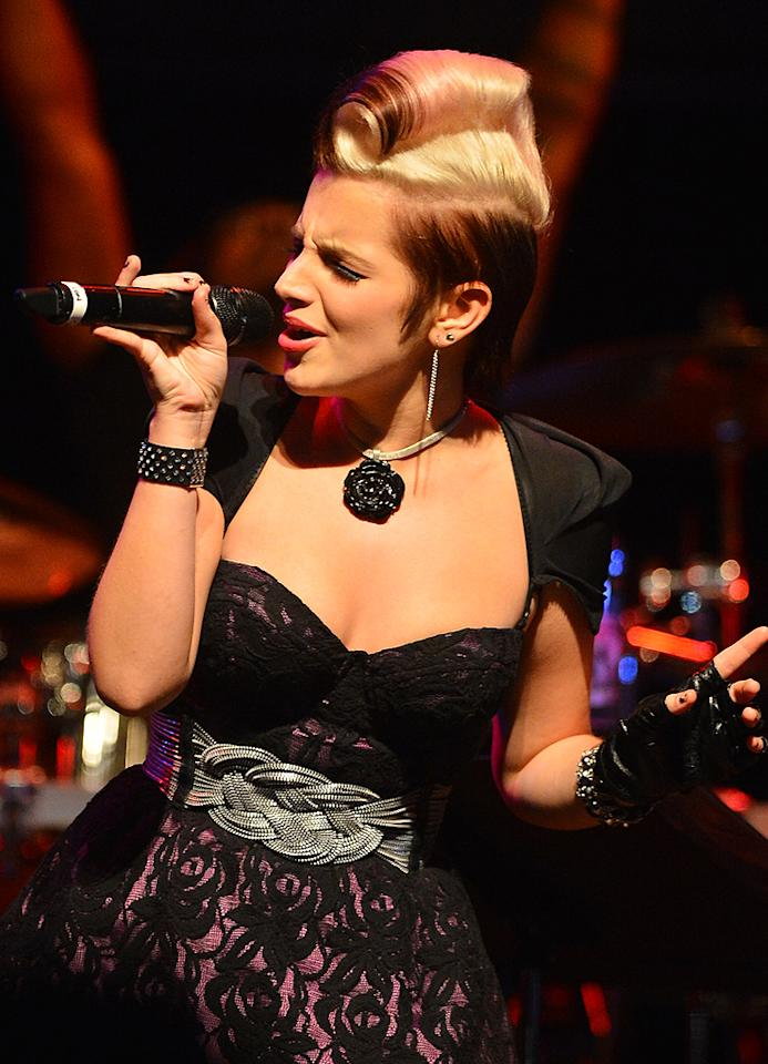 "Michaela Paige at a special live performance event celebrating the Top 12 artists of ""The Voice"" on November 8, 2012 at the House of Blues in Hollywood, CA."