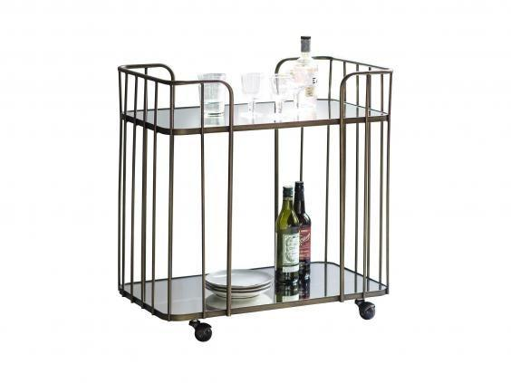 Serve up your drinks in style in this mirrored trolley that will add a touch of luxury to Friday night drinks on the sofa