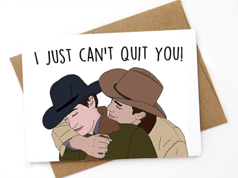 "<p>For those you just can't quit.</p><br><br><strong>Spicy Cards</strong> I can't quit you! - Valentine's Day Card, $6.5, available at <a href=""https://www.amazon.com/Valentines-Love-card-cant-quit/dp/B07M9SHBDF/ref=sr_1_76?m=A3HCQOBPC5D746&s=handmade&ie=UTF8&qid=1548449242&sr=1-76"" rel=""nofollow noopener"" target=""_blank"" data-ylk=""slk:Amazon"" class=""link rapid-noclick-resp"">Amazon</a>"