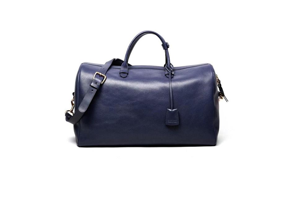 """$1200, Lotuff. <a href=""""https://lotuffleather.com/collections/men/products/no-12-leather-weekender-bag?variant=4114763333"""" rel=""""nofollow noopener"""" target=""""_blank"""" data-ylk=""""slk:Get it now!"""" class=""""link rapid-noclick-resp"""">Get it now!</a>"""