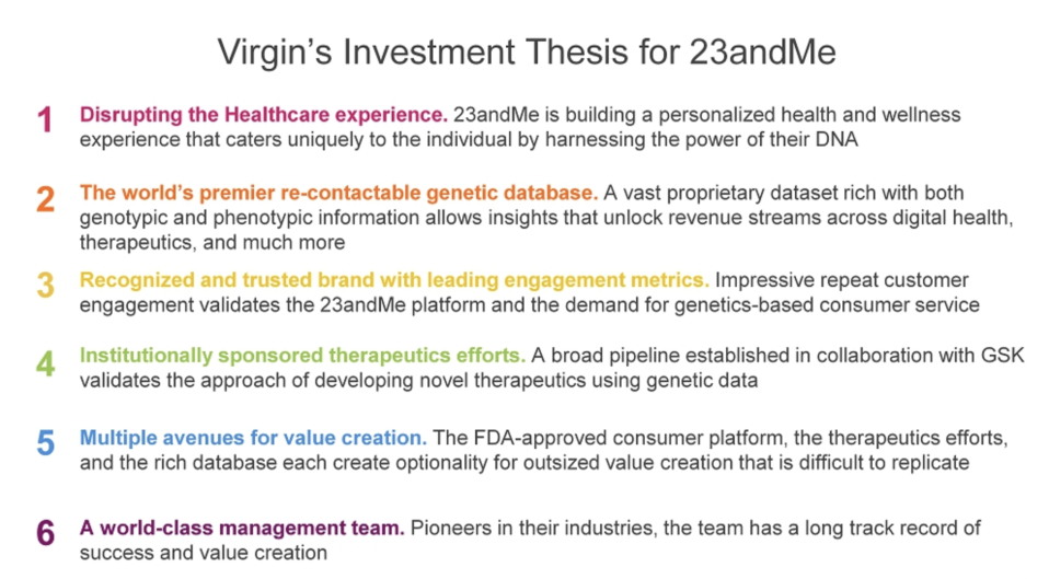 Why Virgin is investing in 23andMe